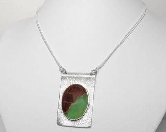 Chrysoprase Gemstone 925 Sterling Silver Necklace