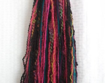 Yarn Hair Falls Multi-Color Mix-Cosplay, Ren Fairs, Bellydance, Halloween