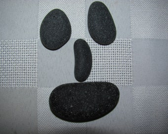 Black Sea Glass,  Black Beach Glass, Very rare black  beauties