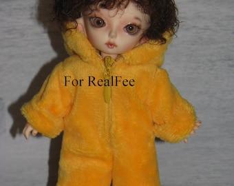 BJD dolls clothes  tiny plush Overall  for RealFee Fairyland