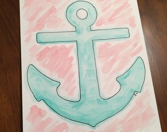 Watercolor Painting - Anchor