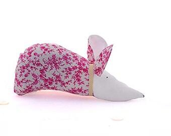 Liberty organic lavender sachet : plum and pink mouse