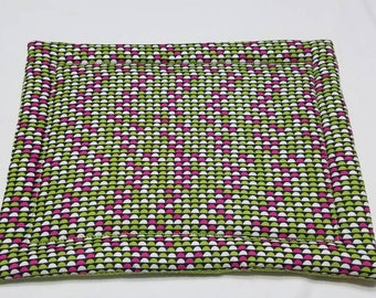 Lime, Magenta, and White Hot Mat