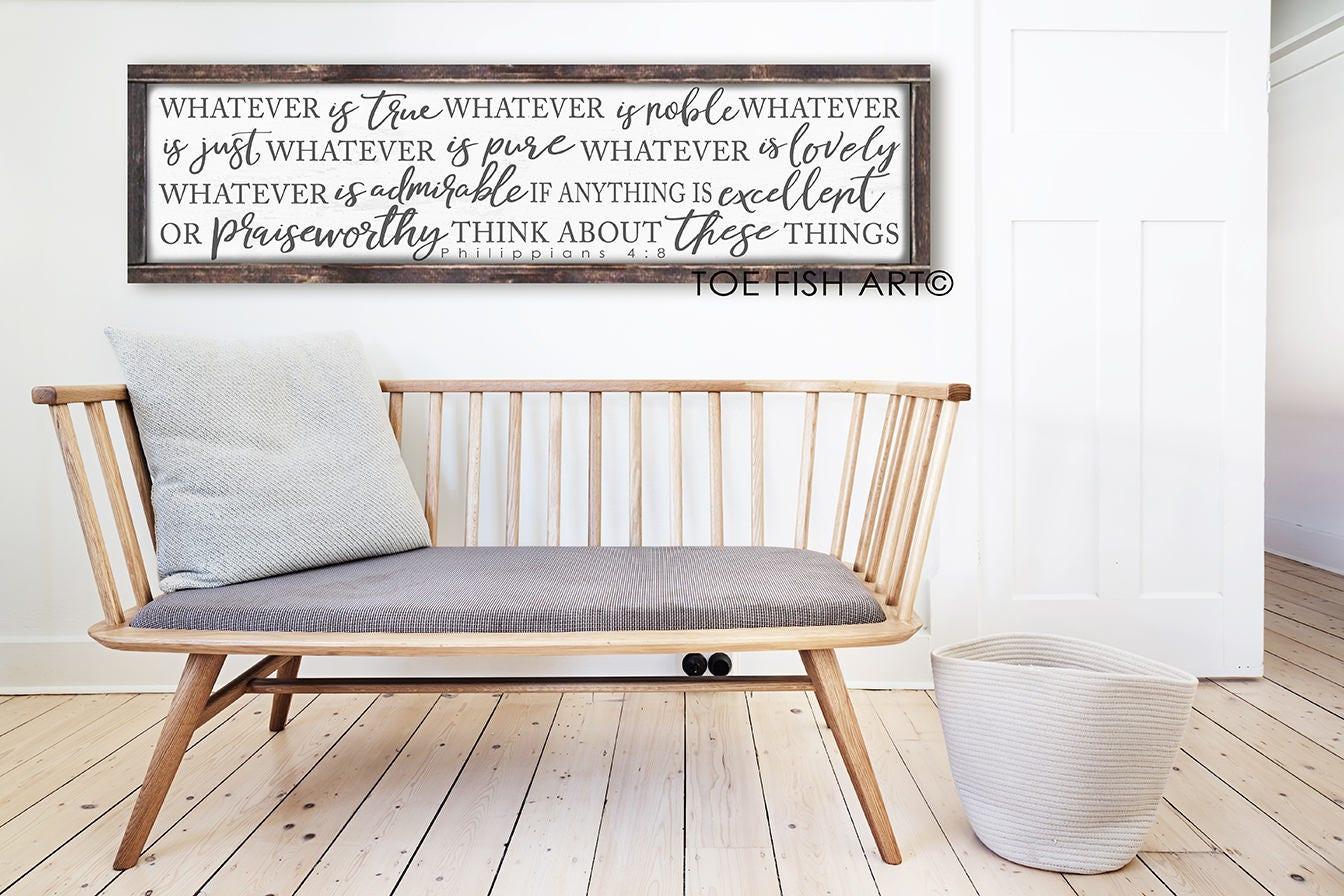 Whatever is True Sign Philippians 4:8 Scripture Bible Verse