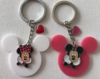 Minnie and Mickey Mouse Inspired Charms Key Chain