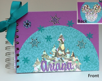 Disney Autograph Book Frozen Disney Holographic Silver Princess Castle Personalized