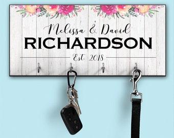 personalized key holder, key holder, entryway organizer, key hanger, key rack, housewarming gift, key holder for wall, wall key holder