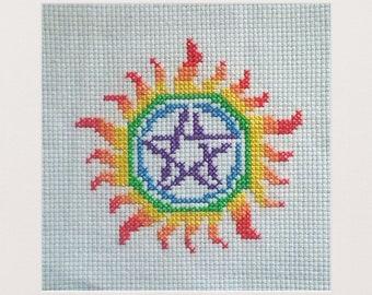 Rainbow Anti-Possession Symbol Iron-on Patch