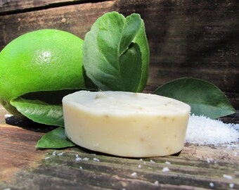 5 Bars Coconut Lime Soap <Handmade-Natural-Aromatherapy-EssentialOils-TroubledSkin-Antibacterial-Camping-Kitchen Soap>