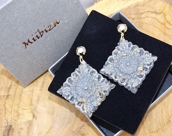 """Earrings """"expression"""" sparkling silver"""