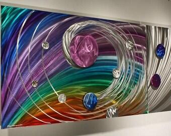 Rainbow Art Abstract Metal Wall Art Sculpture, Design by NY Artist Alex Kovacs- AK154