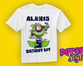 Buzz Lightyear Shirt, Buzz Lightyear birthday shirt, Toy Story t-shirt, Buzz Lightyear party, Toy Story Party, Custom birthday shirt