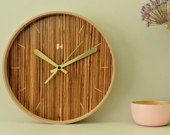 Maple wall clock with a Zebrano dial
