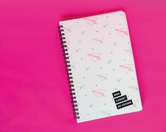 Travel journal | Log. Planner. Notes.  Travel. Airplanes. Check list. Itinerary | Notebook. Explorer