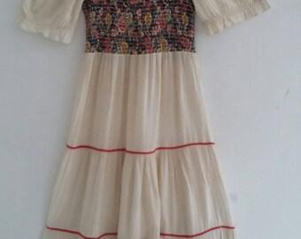 vintage boho 70s dress