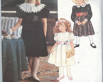 1990s Girls Dress Pattern Vogue 2769 Toddler Pleated Flared Skirt Childrens Sewing Patterns Size 2-4 uncut