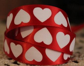 """Heart Ribbon 5/8"""""""