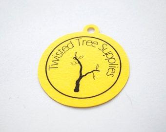 Round Tag- Gift Tag- Custom Tag- Logo Tag (30 tags)