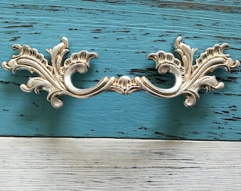 "2.5"" 3.75"" Leafy Dresser Pulls Drawer Pull Handles Antique Silver Leaf Cabinet Handles Pulls Knobs Door Handle Vintage Hardware 64 96 mm"