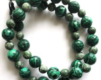 malachite necklace tree agate necklace gemstone necklace green necklace 18 inch long necklace statement necklace gift for her