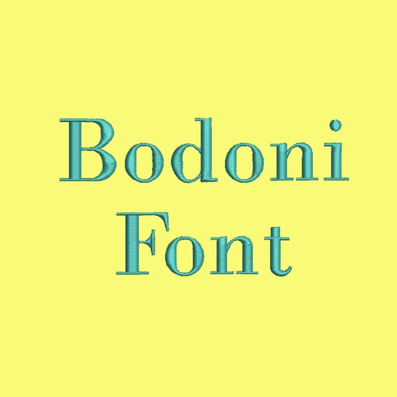 Sale 50 2 size bodoni font embroidery designs bx fonts for Embroidery office design version 9