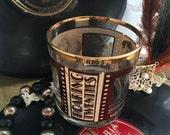 Roaring Twenties Glass Table Centerpiece Mary Pickford Raymon Novarro Speakeasy Style Art Deco 1920s Hollywood Stars Rocks Whiskey Tumbler