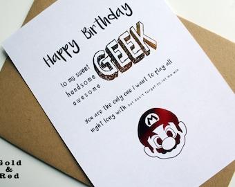 Yoshi birthday card etsy happy birthday geek card mario bros bookmarktalkfo Image collections