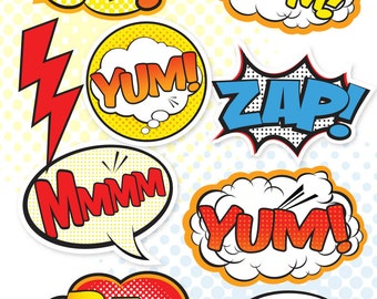Superhero Party Signs - Large, Medium & Small / Party Decor / Food and Dessert Table / Photo Props