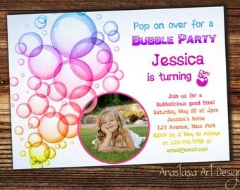 Bubbles invitation bubble invitation bubble birthday bubble birthday party invitation bubble party filmwisefo