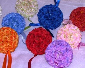 "Kissing Balls for Weddings two toned 5"" Kissing Ball  Wedding Flower Decoration wedding pew decoration wedding flower balls pomander balls"