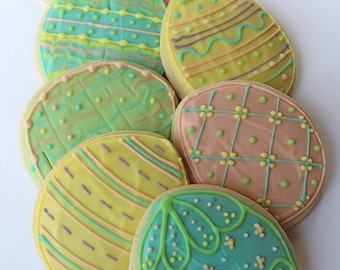 Eater Egg Sugar Cookies with Buttercream Frosting