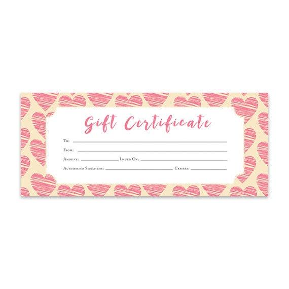 gift certificate blank