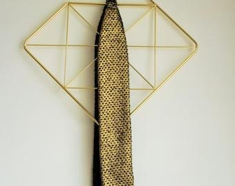 Headband Fanny-headband tie Reversible green and gold