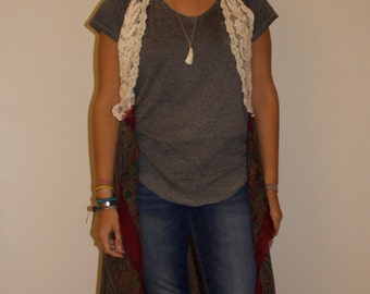 Crochet Vest with Flow-y Paisley Bottom