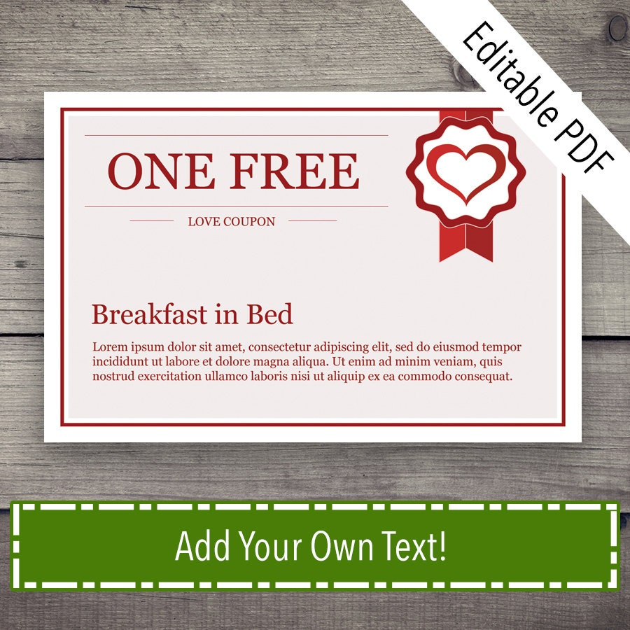 Coupon Book Coupon Template Love Coupon Love Coupons Love