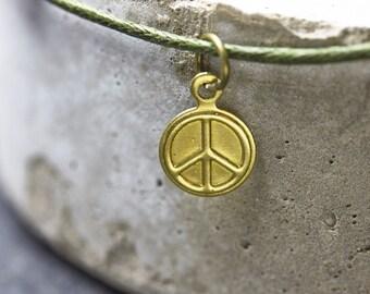 Peace bracelet minimal vegan Freundschaftsamband