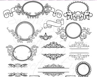 Calligraphy clip art clipart diy wedding invitation designs 14 calligraphy clip art clipart diy wedding invitation designs scrapbook embellishment digital frame buy 3 get 1 free clipart 0367 stopboris Images