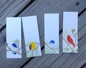 Watercolor Forest Bird Bookmarks