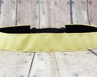 No Slip Headband. Solid Workout Headband. Yoga Headband. Adjustable Headband. Running Headband II soft Yellow