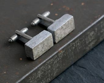 Handmade Upcycled Paper Cufflinks, 1st Anniversary Gift