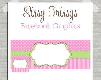 INSTANT DOWNLOAD - Premade Facebook Timeline Cover Photo Design - Facebook Profile Picture - Blank Facebook Graphics - DIY Facebook Pics