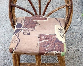 Vintage Tiny Twig Chair with Barkcloth Seat
