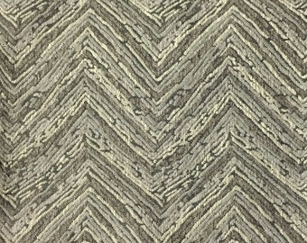 Upholstery Fabric - Norwich - Driftwood - Chevron Pattern Heavy Chenille Home Decor Upholstery Fabric by the Yard - Available in 8 Colors