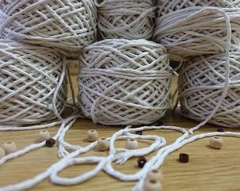 3mm macrame cotton cord, macrame rope, macrame string, natural cotton cord, macrame cotton string, 3mm macrame rope, macrame twine