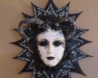 Black Magic Series Horned Goddess 2 Original Wall sculpture by TW Klymiuk