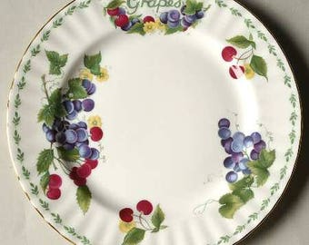 "Vintage Royal Albert Covent Garden ""Grapes"" Salad Plate"