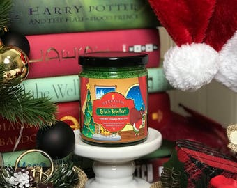 Grinch Repellent | Grinch Inspired Candle