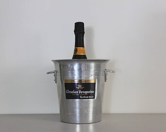 French Vintage Champagne Bucket Charles Pougeoise, Champagne Cooler, Home Bar, Man Cave