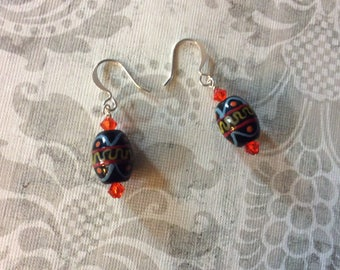 Gifts for her, womens jewelry, silver plated jewelry, austrian crystals, crystal earrings, womens earrings, handmade jewelry