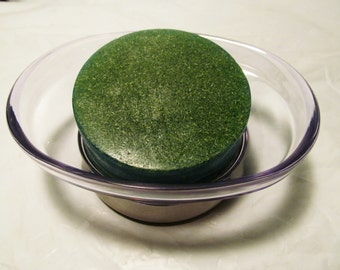 Green Loofah soap, Gentle Scrub Soap, Detergent Free, Fragrance Choice